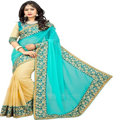 Om sai creation Embriodered Bollywood Georgette Sari