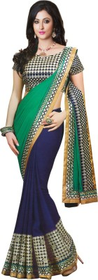Increadibleindianwear Embriodered Fashion Handloom Georgette Sari