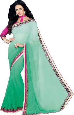 Hitansh Fashion Embriodered Fashion Georgette Sari