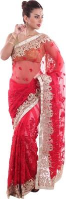 Aumkar Self Design Fashion Net Sari