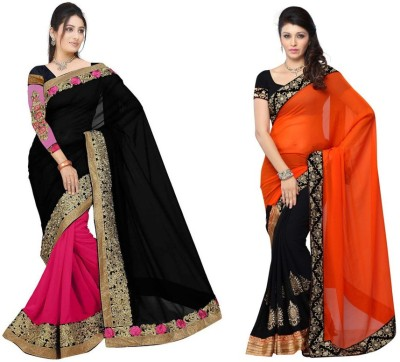Red Carpet Embriodered Bollywood Georgette, Net, Georgette Sari