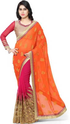 Aagaman Fashion Self Design Fashion Chiffon Sari