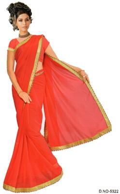 Shanti Textile Plain Fashion Georgette Sari