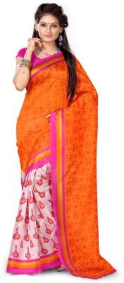 Adah Fashions Printed Fashion Art Silk Sari