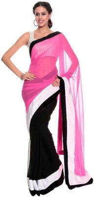 Nairiti Fashions Self Design Fashion Handloom Chiffon Sari