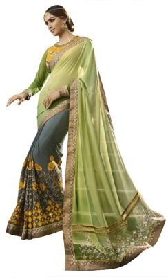 Kvsfab Embriodered Fashion Pure Georgette Sari