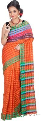 Jhumya Checkered Tant Cotton Sari