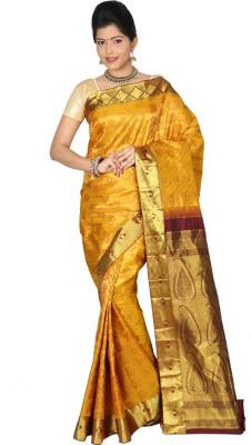 Swanky Silk Yards Woven Dharmavaram Handloom Silk Sari