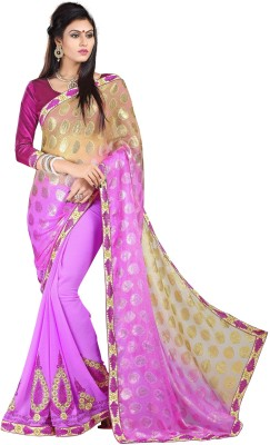Stylezone Embriodered Bollywood Brasso Sari