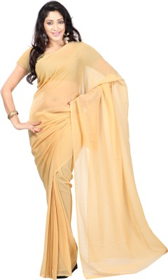 Kalash Sarees Plain Bollywood Chiffon Sari