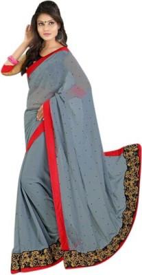 Connectshop Embriodered Daily Wear Georgette Sari