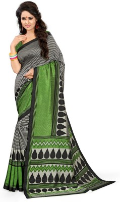 Design Villa Printed Mysore Synthetic Crepe Sari