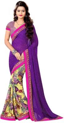 Apka Apna Fashion Printed Banarasi Net Sari