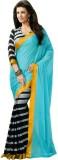Varibha Plain Fashion Silk Saree (Blue)