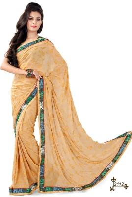 ambey shree trendz Houndstooth Chanderi Georgette Sari