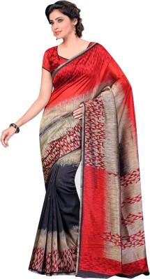 Urban Vastra Geometric Print Bhagalpuri Dupion Silk Sari