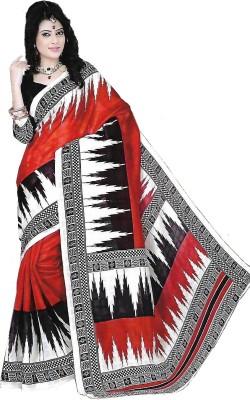 TrulyDesi Printed Mysore Silk Sari