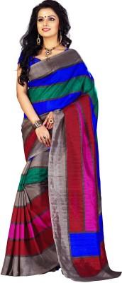 Gerbera Designer Printed Fashion Art Silk Sari