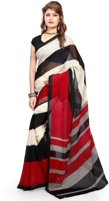 SaiArisha Striped Fashion Georgette Sari