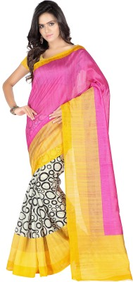 Muta Fashions Printed Fashion Art Silk Sari