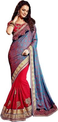 Manish Creation Embellished, Embriodered Bollywood Georgette, Jacquard Sari