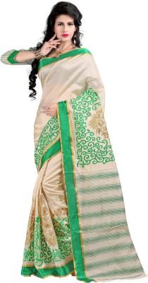 Simran Fashion Embriodered Assam Silk Handloom Art Silk Sari