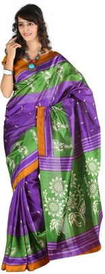 Carah Printed Daily Wear Art Silk Sari