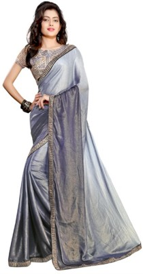 Ethnicup Embriodered Bollywood Crepe Sari