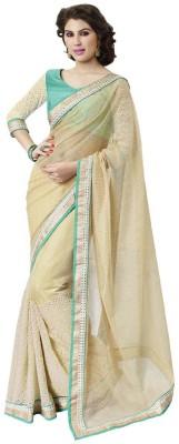DesiButik Embriodered Fashion Jute, Net Sari