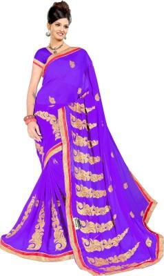 KumarSarees Embriodered Fashion Chiffon Sari