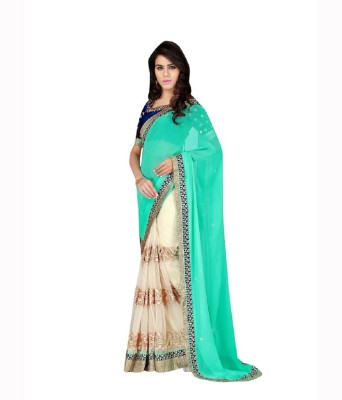 Patel Sarees Embriodered Bollywood Georgette Sari