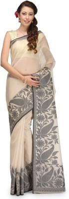 Bunkar Self Design Banarasi Handloom Cotton Sari