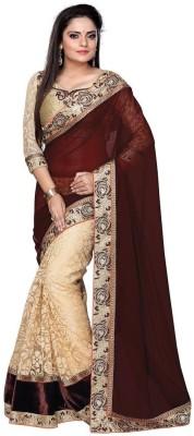 Kia Fashions Embriodered Bollywood Brasso Sari