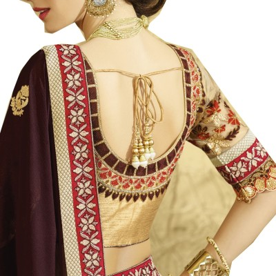 Prerana Fashion Embriodered Bollywood Jacquard Sari