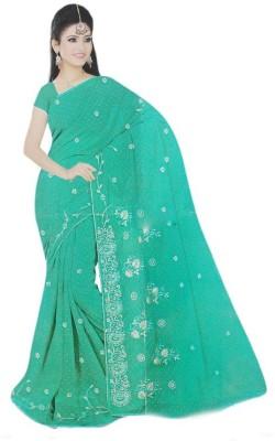 awadh Printed Lucknow Chikankari Georgette Sari