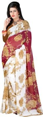 Sukuma Floral Print Fashion Handloom Georgette Sari