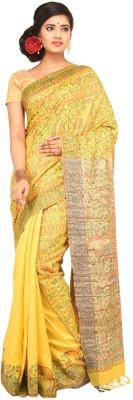 Charvi Self Design Fashion Handloom Tussar Silk Sari