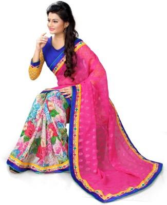 Shaurya Trendz Printed Bollywood Silk Sari