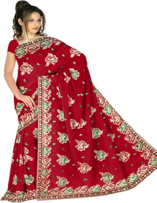 Utsava Solid Fashion Chiffon Sari