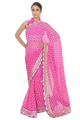 Vibhuti Sarees Self Design Fashion Pure Chiffon Sari
