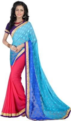 Gunjan Creation Self Design Fashion Nylon Wool Blend Sari