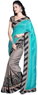 V-Art Printed Bollywood Art Silk Sari