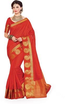Taanshi Printed Kanjivaram Tussar Silk Sari
