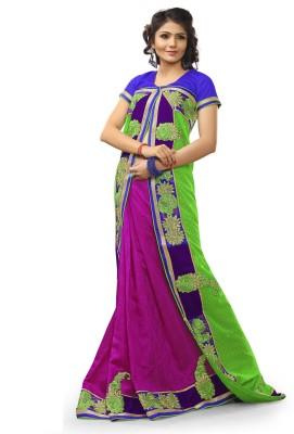 Adde Embellished Fashion Jacquard, Velvet Sari
