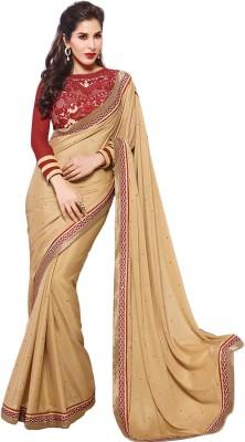 Jp Enterprise Embriodered Fashion Georgette Sari