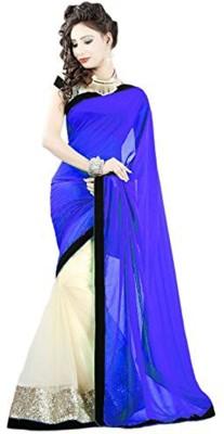 Temptingg Fashions Embellished Bollywood Chiffon Sari