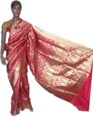 VanshikasCollections Solid Banarasi Banarasi Silk Sari