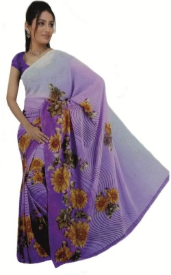 RoopSangamz Floral Print Daily Wear Georgette Sari