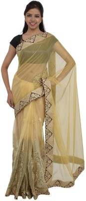 Inspira Solid Fashion Net Sari