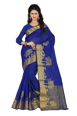 ClassicEnterprise Solid Bollywood Silk Cotton Blend Sari